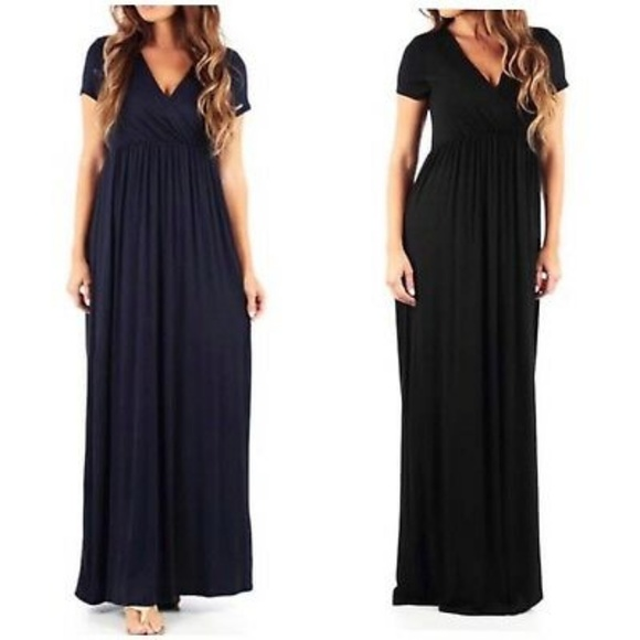 Rags and Couture Dresses & Skirts - Rags & Couture Ruched Maxi Dress Blue Large